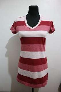 Bossini shirt red stripe