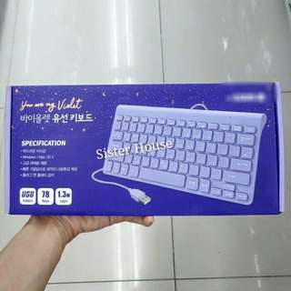 🇰🇷Daiso You are my violet keyboard 大創全紫色有線鍵盤