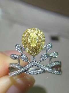 黃鑽18k Josephine 款戒指
