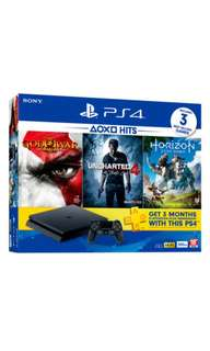 Sony PS4 Slim 500GB Bundle Pack + 2 Controllers