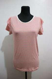 Bershka red and white stripe