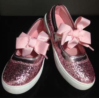 Carter's Pink Glitter Doll Shoes With Tag! Size: US12, EU30, 18.1cm