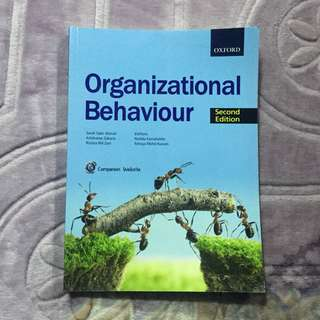 #postforsbux Organizational Behaviour Reference Book
