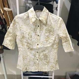 Kemeja Kuning Pastel Hawaii Floral Tropical Shirt