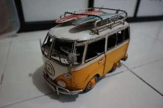 VW vintage van collectibles (metal)