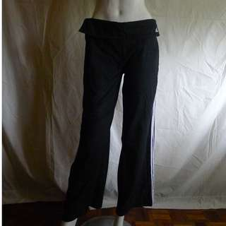 Adidas Originals 3 Stripe Wide Leg Cotton Pants/ Trousers -for YOGA, ZUMBA, RUNNING, DANCING, OR CASUAL LEISURE WEAR