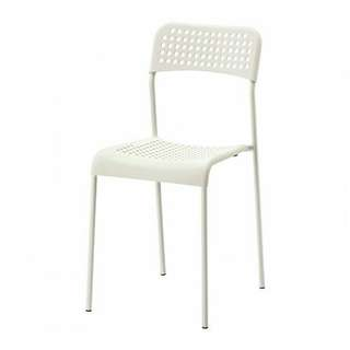 (Sold in another gp) 宜家椅 / Ikea Adde Chair (White) 90% New