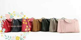 Longchamp Pliage Cuir Crossbody Bag 小羊皮