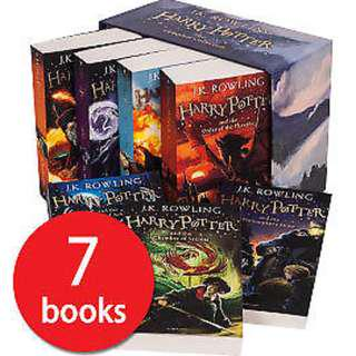🚚 Harry Potter Complete Collection Paperback Box Set Gift ( 1–7 Books )