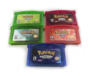 Brand new Pokemon game cartridges