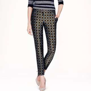 J. Crew Collection- Cafe Capri pants in Tile Jaquard- SILK sourced from Switzerland $315=P16,380