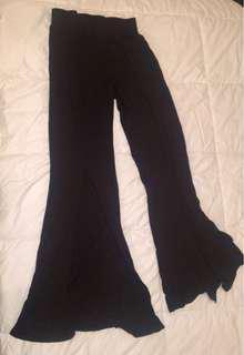 Linen plazo pants with slits