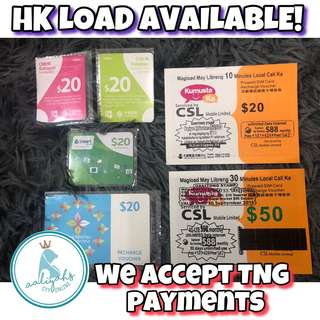 HK Pre-Paid Load for fellow kabayans