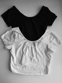 2x Brandy Melville Crop Tops Tshirt