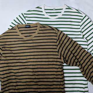 Stripe Longsleeve tshirt. Combo.