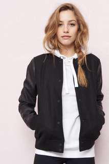 The varsity bomber jacket from garage