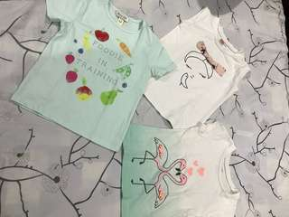 Taiwan-bought baby girl shirts - BUNDLE