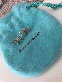 Tiffany bow sterling silver earrings