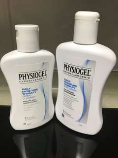 Physiogel cleanser and lotion