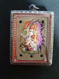 Kruba Krissana Thep bin Hanuman + Butterfly Thai Amulet