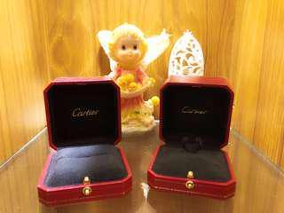 Cartier卡地亞原廠專櫃戒子盒