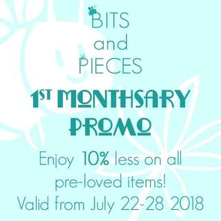 1st Monthsary Promo!