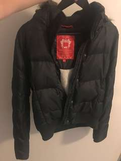 Esprit Edc Fleece-Lined Down Winter Jacket