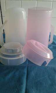 Plastic jar 2 pieces