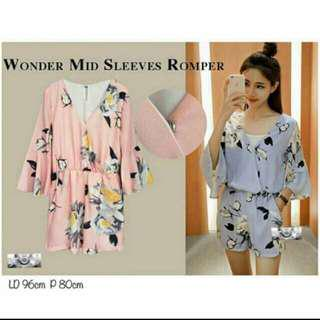 Wonder mind sleeves Romper
