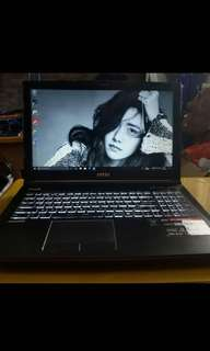 95%new msi ge62 2qc Apache gaming notebook steelseries鍵盤+重低音喇叭
