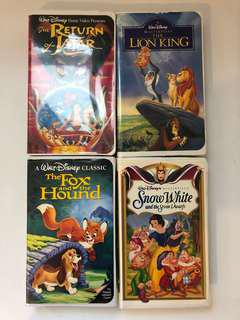 DISNEY Collector VHS - Set of 4