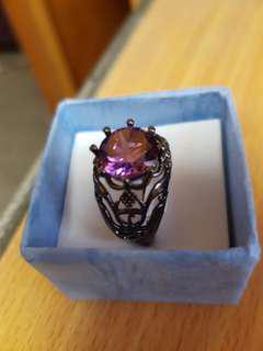 mystic fire black ring size 8