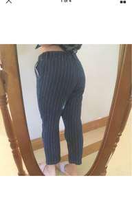 Navy Pinstripe Jeans