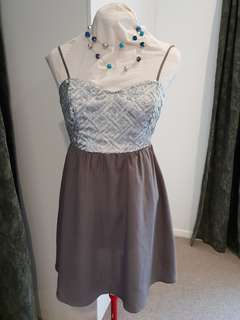 H&M Divided Grey and Silver Sequin Dress
