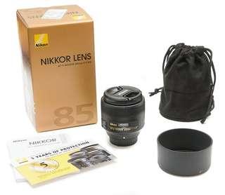 Nikon AF-S 85mm 1.8g (Brand New)
