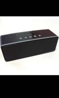 Standard Chartered Portable Bluetooth Speaker FM Radio MicroSD Card USB Black 14 x 4.5 x 5 CM