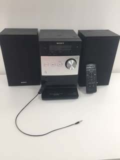 Sony speakers and aux cord