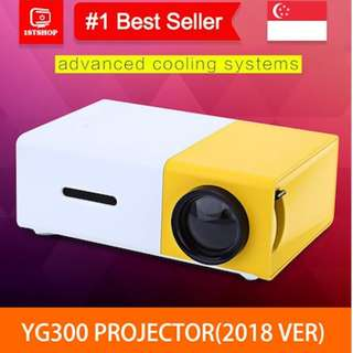 💖READY STOCK💖[YG-300 LCD Projector]400 - 600 Lumens Mini HDMI / USB / AV / CVBS - Mini Projector