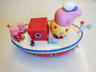 Authentic Peppa Pig Grandpa's Boat Bath Toy