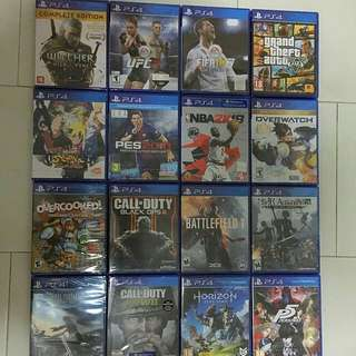 Ps4 Games 6 for RM300