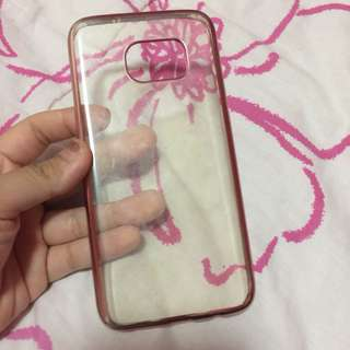 Samsung S7 Edge Pink Clear Soft Case