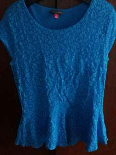 Authentic Vince.Camuto Peplum lacey top