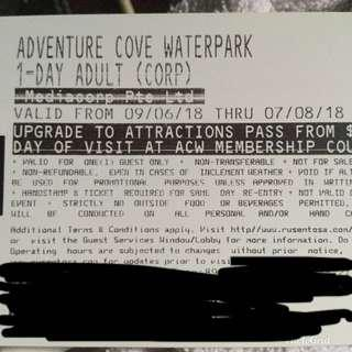 2x Adult Adventure Cove ticket
