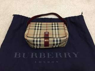 Authentic Burberry Check Pouch Clutch Purse
