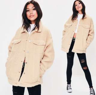 Cream colour teddy coat jacket