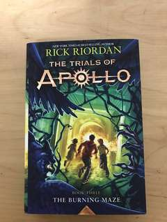 [HARDCOVER][Reserved] Rick Riordan Trials of Apollo Book 3 The Burning Maze