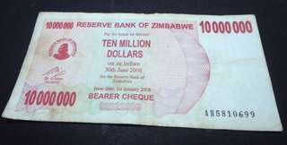 Zimbabwe Bank Notes (collectible)