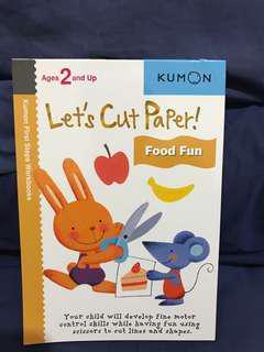 Kumon Let's Cut Ppaer Food Fun