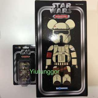 Bearbrick Shoretrrooper 400% + 100% #Star Wars #Medi Com Toy #沙兵