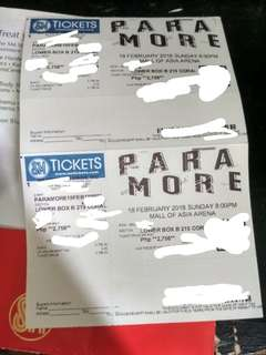 Paramore Ticket Lower Box B 2 tickets @ 9k ea Legit (Selling as pair, total 18k)